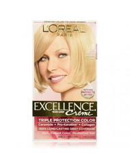 L'Oreal Excellence Creme Haircolor, Light Natural Blonde 9 (Pack of 3)