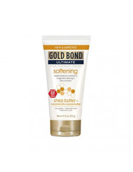 Gold Bond Ultimate Softening Lotion 5.5 OZ (Pack of 4) Helps Smooth and Soften Rough and Dry Skin, Non-Greasy Moisture-Rich Cream with Coconut Oil, Shea Butter, Cocoa Butter