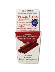 Eco-Dent Cinnamon Floss, 100 yards pack of 6