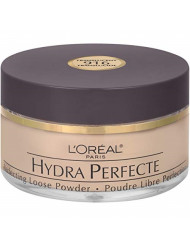 L'Oreal Paris Hydra Perfecte Perfecting Loose Face Powder, Minimizes Pores & Perfects Skin, Sets Makeup, Long-lasting, with Moisturizers to Nourish & Protect Skin, Translucent, 0.5 fl. oz.