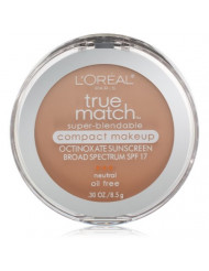 L'Oreal Paris True Match Super-Blendable Compact Makeup, Natural Buff, 0.3 oz.
