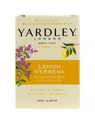 Yardley London Lemon Verbena Naturally Moisturizing Bath Bar, 4.25 ounce