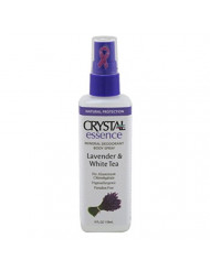 Crystal Essence Lavender and White Tea Body Spray - 4 oz - Liquid