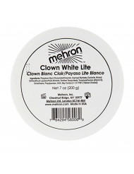 Mehron Makeup Clown White Lite Professional Makeup (7 oz)