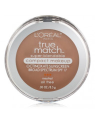 L'Oreal Paris True Match Super-Blendable Compact Makeup, True Beige, 0.30 Ounces