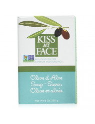 Kiss My Face Soap Bar Olive & Aloe 8 Ounce (235ml) (6 Pack)