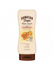 Hawaiian Tropic Sheer Touch Lotion Sunscreen, Moisturizing Broad-Spectrum Protection, SPF 50, 8 Ounces - Pack of 2