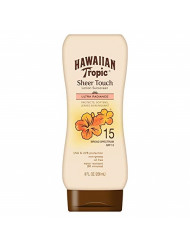 Hawaiian Tropic Sheer Touch Lotion Sunscreen, Moisturizing Broad-Spectrum Protection, SPF 15, 8 Ounces