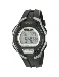 Timex Men's T5K412 Ironman Classic 30 Oversized Black/Silver-Tone Resin Strap Watch