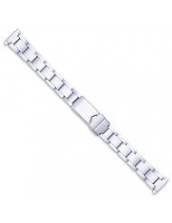 Women's Oyster Link Style Metal Watch Band - Silver - (fits 11mm to 14mm)