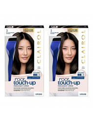 Clairol Root Touch-Up Permanent Hair Color Creme, 2 Black, 2 Count