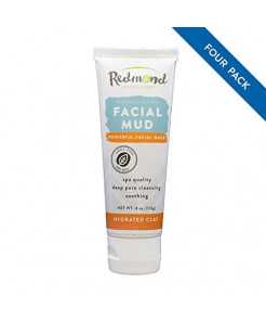 Redmond Facial Mud, Hydrated Clay, 4 Ounce Tube (4 Pack)
