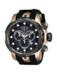 Invicta Men's 0361 Reserve Collection Venom Chronograph 18k Black/Rose Gold-Plated Stainless Steel Watch