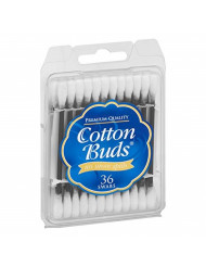 Cotton Buds Travel Size Premium Cotton Swabs Color May Vary 36 ea