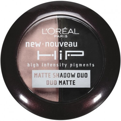 L'Oreal Paris HiP high intensity pigments Matte Eye Shadow Duos, Dashing, 0.08 Ounces