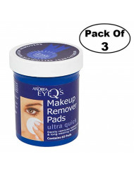 Andrea Eye Q's Ultra Quick Eye Makeup Remover Pads, 65-Count (Pack of 3)