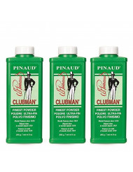 Clubman Pinaud Powder for After Haircut or Shaving, White, 9oz x 3 pack