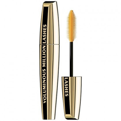 L'Oreal Paris Makeup Voluminous Million Lashes Volumizing, Defining, Smudge-Proof, Clump-Free Lengthening, Collagen Infused Eye Makeup Formula, Amplifying Mascara Brush, Black Brown, 0.3 fl. oz.