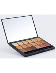 Graftobian HD Glamour Creme Foundation Cool Super Palette - High Definition 18 Color Cool Undertone Palette for Professional Makeup Artists