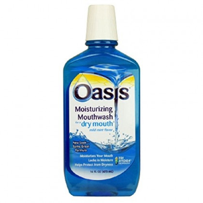 Oasis Moisturizing Mouthwash, For A Dry Mouth, Mild Mint, 16 Fl oz (473 ml) ( Value Pack of 3)