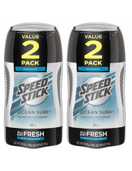 Speed Stick Deodorant for Men, Ocean Surf - 3 Ounce (4 Pack)