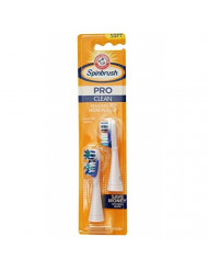 Arm & Hammer Spinbrush Pro Series, Clean Electric Toothbrush Replacement Brush Heads Refills, Soft Bristles, 2 Count - 1 Pack. (Includes 2 Replacement Brush Heads Total.)