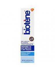 Biotene Fluoride Toothpaste, Fresh Mint 4.3 Ounces  (Pack of 1)