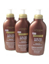 Loreal Paris Sublime Bronze One-Day Tinted Gel,6.7oz -3 Pack