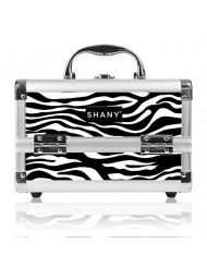 SHANY Mini Makeup Train Case With Mirror - Zebra