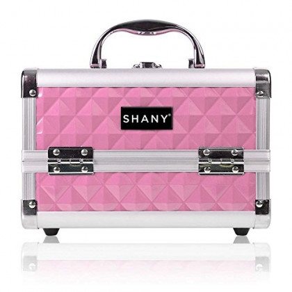 SHANY Mini Makeup Train Case With Mirror - Polite PINK, 1 Count