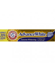 Arm And Hammer Advance White Tube, 3 Count