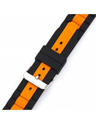 MS-3344 Black/Orange 22mm Diver