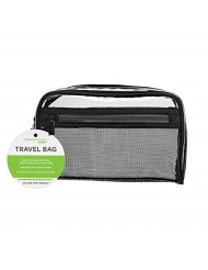 Travel Smart by Conair Sundry/Cosmetic Bag, Clear w/Mesh Pocket