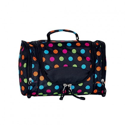 Everest Deluxe Toiletry Bag, Polkadot, One Size
