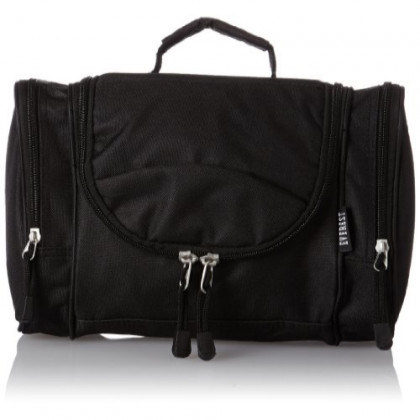 Everest Deluxe Toiletry Bag, Black, One Size