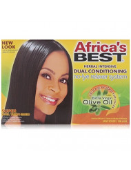 Africa's Best Super No-lye Dual Conditioning Relaxer System, (Pack of 2)