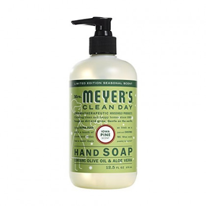 Mrs. Meyer's Clean Day Liquid Hand Soap, Iowa Pine, 12.5 Ounce (Pack of 2)