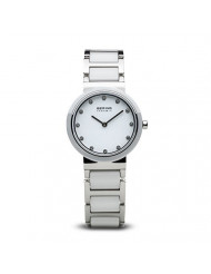 BERING Time | Women's Slim Watch 10729-754 | 29MM Ø Case | Ceramic Collection | Stainless Steel Strap with Ceramic Links | Scratch-Resistant Sapphire Glass | Minimalistic Danish Design