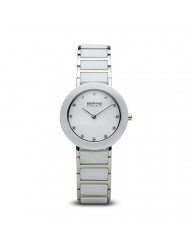 BERING Time | Women's Slim Watch 11429-754 | 29MM Ø Case | Ceramic Collection | Stainless Steel Strap with Ceramic Links | Scratch-Resistant Sapphire Glass | Minimalistic Danish Design