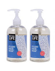 Better Life Hand and Body Soap, Clary Sage, 12 Ounces (Pack of 2)
