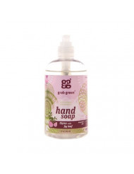 Grab Green Naturally-Derived, Biodegradable Hand Soap, Thyme with Fig Leaf, 12 Ounce Bottle