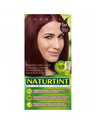 Naturtint Permanent Hair Color, 5M Light Mahogany Chestnut, Plant Enriched, Ammonia Free, Long Lasting Gray Coverage and Radiante Color, Nourishment and Protection