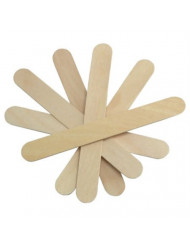 "Cotton Orchid Large Wide Wood Wax Spatula Applicator 6"" x 3/4"" 100 Pack"