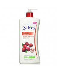 St. Ives Intensive Healing Body Lotion, Cranberry and Grapeseed Oil 21 oz