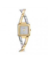 Titan Workwear Women's Contemporary Bracelet Watch - Quartz, Water Resistant - Two Tone  Band and White Dial
