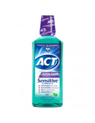 ACT Total Care Anticavity Fluoride Mouthwash, Sensitive Formula Mint, 18 Fluid Ounce