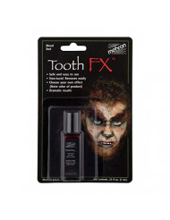 Mehron Makeup Tooth FX with Brush (.25 ounce) (Blood Red)