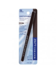 Maybelline Unstoppable Unstoppable Smudge-Proof Eyeliner, Waterproof, Espresso [702], 0.01 oz (Pack of 2)