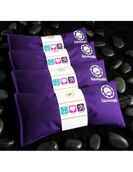 Happy Wraps Namaste Yoga Eye Pillows - Lavender Eye Pillows for Yoga - Aromatherapy Eye Pillow Mask for Yoga - Stress Relief and Relaxation Gifts Hot Cold Therapy - Set of 4 - Purple Cotton