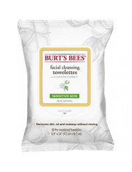 Burt's Bees Sensitive Facial Cleansing Towelettes with Cotton Extract for Sensitive Skin  - 30 Count